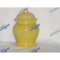 "Small Yellow Jar 6""x4"" Porcelain"
