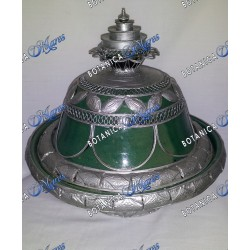 Green Maroccan Jar for Inle with Metal Decoration