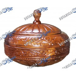 Large Light Wodden Tub for Shango With Carving