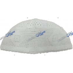 Ceremonial Hat  White Knitted Illawo