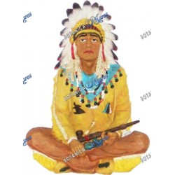 "Indian Chief  Seated - Small  11"" H x 8"" W"