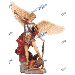 "Saint Michael 10.5"" Resin hand painted"